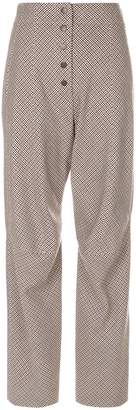 Stella McCartney patterned high-waisted trousers