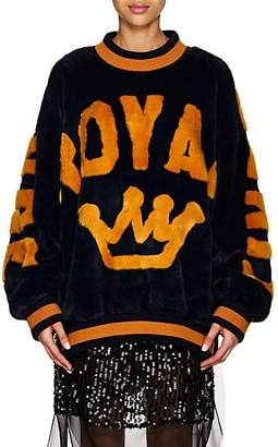 "Dolce & Gabbana Women's ""Royal"" Faux-Fur Sweatshirt"