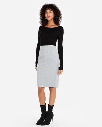 Express High Waisted Clean Front Pencil Skirt