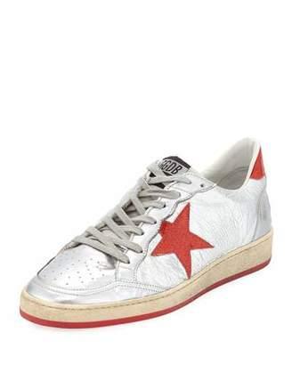 Golden Goose Men's Ball Glitter Star Low-Top Sneakers