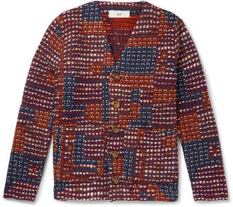 Séfr Gote Patchwork Open-Knit Cardigan
