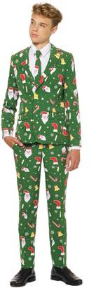 OppoSuits Santaboss Two-Piece Suit with Tie