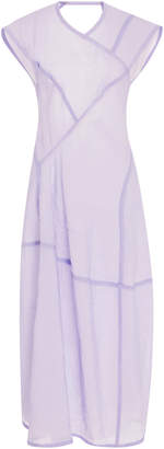 Victoria Beckham Tech Musli Cap Sleeve Midi Dress