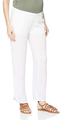 Mama Licious Mamalicious Women's Mlmaple Woven Pants Maternity Trousers, Bright White, (Size: Small)