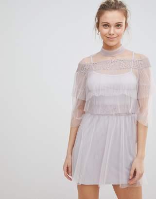Glamorous Mesh Frill Dress