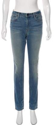 Alexander Wang Denim x Distressed Mid-Rise Skinny Jeans
