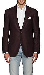 Isaia Men's Sanita Plaid Wool Two-Button Sportcoat - Wine
