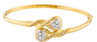 18K Diamond Bypass Bangle