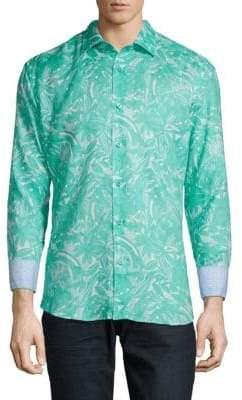 Floral Linen Dress Shirt