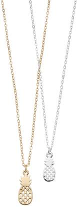 Lauren Conrad Baby & Big Pineapple Pendant Nickel Free Necklace Set