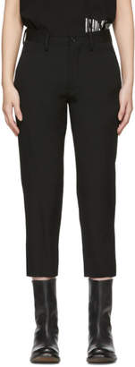 Y's Ys Black Gabardine U-Slim Trousers