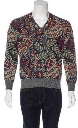 Missoni V-Neck Rib Knit Sweater