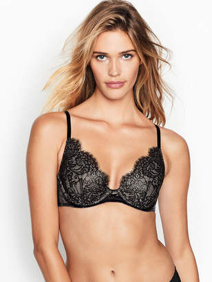 Very Sexy Velvet Lightly Lined Plunge Bra