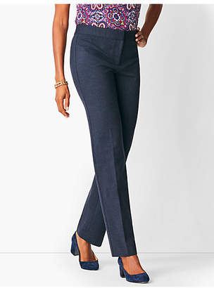 Talbots Italian Luxe Knit Herringbone Straight-Leg Pant