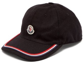 Moncler Logo Embroidered Cap - Mens - Black