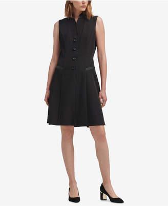 DKNY Tuxedo A-Line Dress
