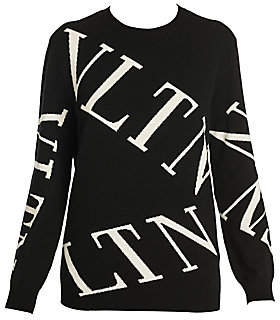 Valentino Women's Logo Virgin Wool & Cashmere Crewneck Sweater