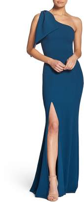 Dress the Population Georgina One-Shoulder Crepe Gown