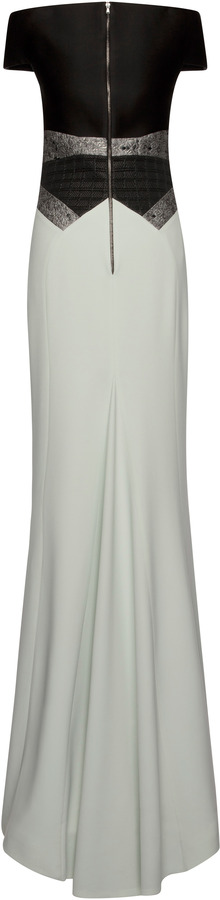 Antonio Berardi Off Shoulder Cady Gown