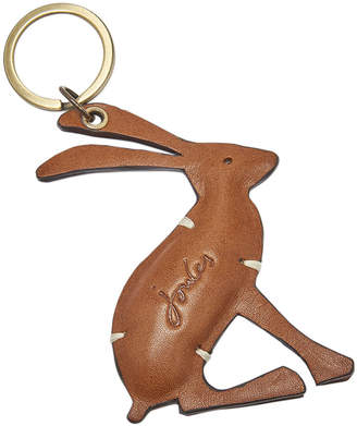 Joules Hangby Leather Hare Keyring - Gold