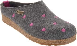 Haflinger Wool Felt Heart Clogs - Cuoricini