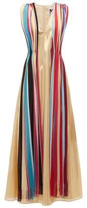 M Missoni Vintage Scarf Silk Blend Lame Maxi Dress - Womens - Multi