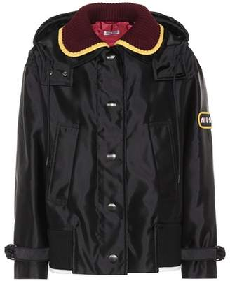 Miu Miu Wool-trimmed jacket