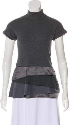 Brunello Cucinelli Short Sleeve Turtleneck Top