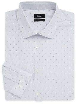 Theory Dover Macko Cotton Slim-Fit Dress Shirt