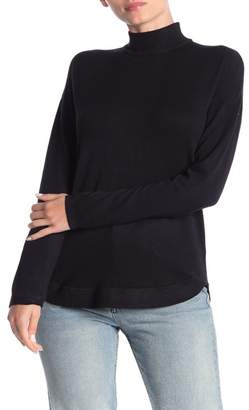 Cyrus Mock Neck Zip High/Low Tunic Sweater