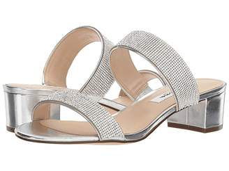 f9543149ba30 Nina Silver Synthetic Upper Women s Sandals - ShopStyle