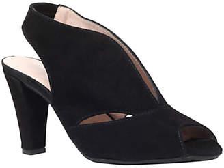 Arabella Carvela Comfort Cone Heel Open Toe Court Shoes