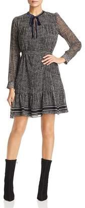 Marella Battito A-Line Houndstooth Dress