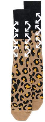 Off-White leopard print socks