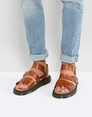 Dr. Martens Gryphon Analine Sandals In Oak