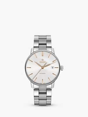 Rado R22860023 Unisex Coupole Classic Date Automatic Bracelet Strap Watch, Silver
