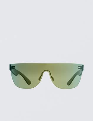 RetroSuperFuture Super By Tuttolente Flat Top Petrol Sunglasses