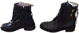 Elie Saab Leather biker boots