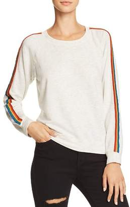 Monrow Rainbow-Stripe Sweatshirt