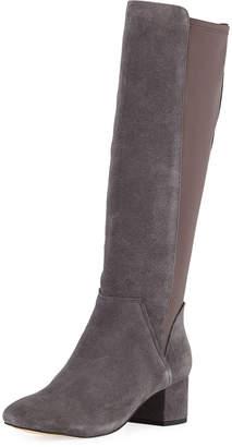 Donald J Pliner Cayden Suede/Crepe Knee Boots