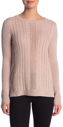 Sofia Cashmere Cable Knit Cashmere Sweater