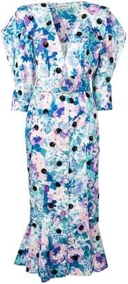 ATTICO floral print button dress