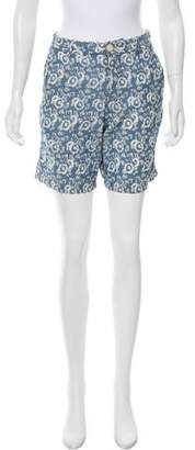 Steven Alan Floral Print Knee-Length Shorts