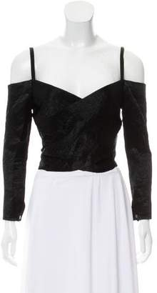 Opening Ceremony Off-The-Shoulder Wrap Top
