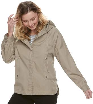 UNIONBAY Juniors' Lexie Twill Hooded Jacket