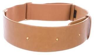 Halston Leather Adjustable Waist Belt