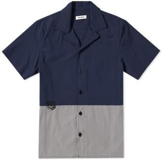 Tim Coppens Cut & Sew Stripe Panel Bowling Shirt