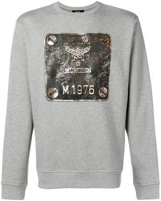 MCM metallic logo print sweatshirt
