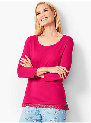 Talbots Lace-Trim Sleep Top
