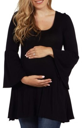 24/7 Comfort Apparel Del Mar Maternity Tunic Top -- Available in Plus Sizes